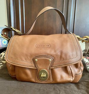 Coach leather purse, brown, 8HX13W size for Sale in National City, CA