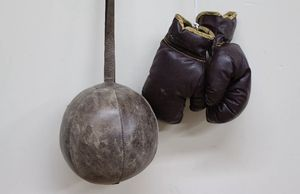vintage wilson boxing gloves with speed bag for Sale in San Diego, CA