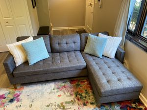 Brand New Gray Reverse Chase Couch for Sale in Drexel Hill, PA