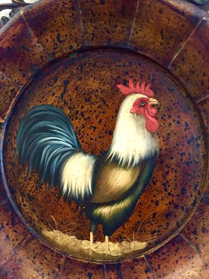 Rooster Vintage metal painted wall art H20xW16xD1.5 inch for Sale in Sun Lakes, AZ