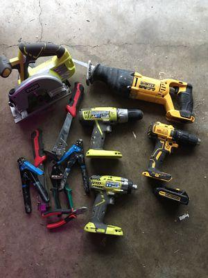Power tools lot dewalt & Ryobi & miscellanies Hans tools for Sale in Harker Heights, TX