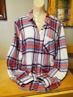 Womens plaid lightweight flannel shirt by Garage small for Sale in Midwest City, OK