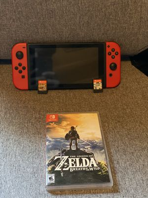 Nintendo Switch w/ 2 Games! for Sale in Sanger, CA