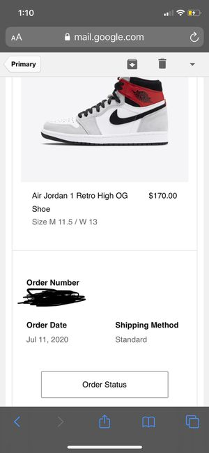 Jordan 1 Smoke Gray Size 11.5🔥🔥🔥 for Sale in Bothell, WA
