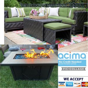 Patio Furniture Set Sunbrella Fabric With Fire Pit for Sale in Norco, CA