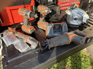 Ridgid brushless power tools set for Sale in Miami, FL