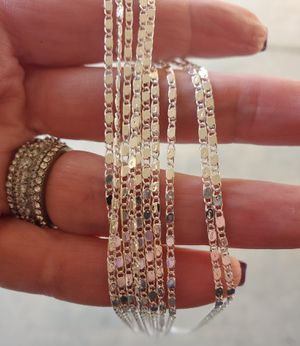 Sterling silver chains for Sale in Riverside, CA