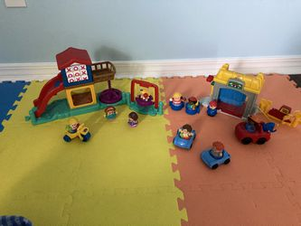 Fisher Price Little People Playground and Service Garage Sets  for Sale in Santa Rsa Bch, FL