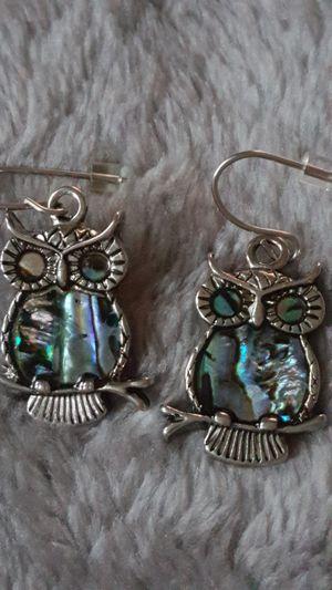 NEW animal OWL bird Storrs Glacier Pearl RARE earrings gift HTF for Sale in Lake Worth, FL