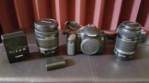 Canon 60D with 2 lenses/2 batteries/2 memory cards for Sale in Carrollton, TX