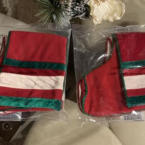 2 in each bag Christmas Stockings Velvet and Fleece measures 18 x 6 inches each bag contains one white stocking and one red $20 for each bag Pick for Sale in Mebane, NC