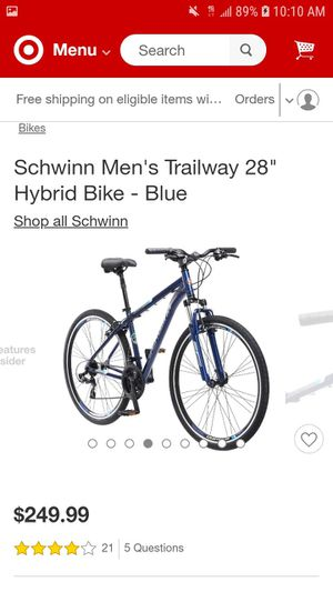 Schwinn 28' blue hybrid bike *brand new* for Sale in Fresno, CA