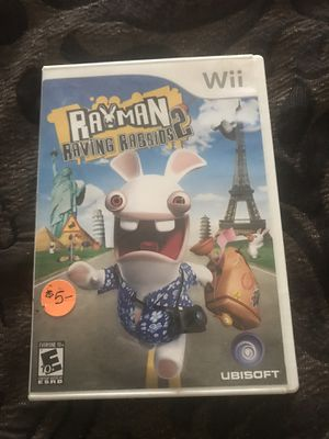 Wii Rayman Raving Rabbids 2 Game for Sale in Fort McDowell, AZ