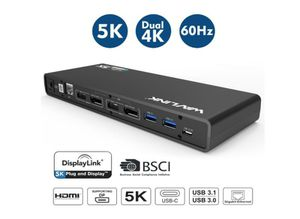 Wavlink USB C,Type-A Dual 4K Laptop Docking Station,5K/ Dual 4K @60Hz Video Outputs Dual Monitor for Windows,(2 HDMI & 2 DP, Gigabit Ethernet for Sale in Rancho Cucamonga, CA