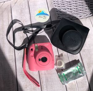 Fujifilm Instax Mini 9 Flamingo Pink Camera, Case, Close Up Lens And Film for Sale in Colorado Springs, CO