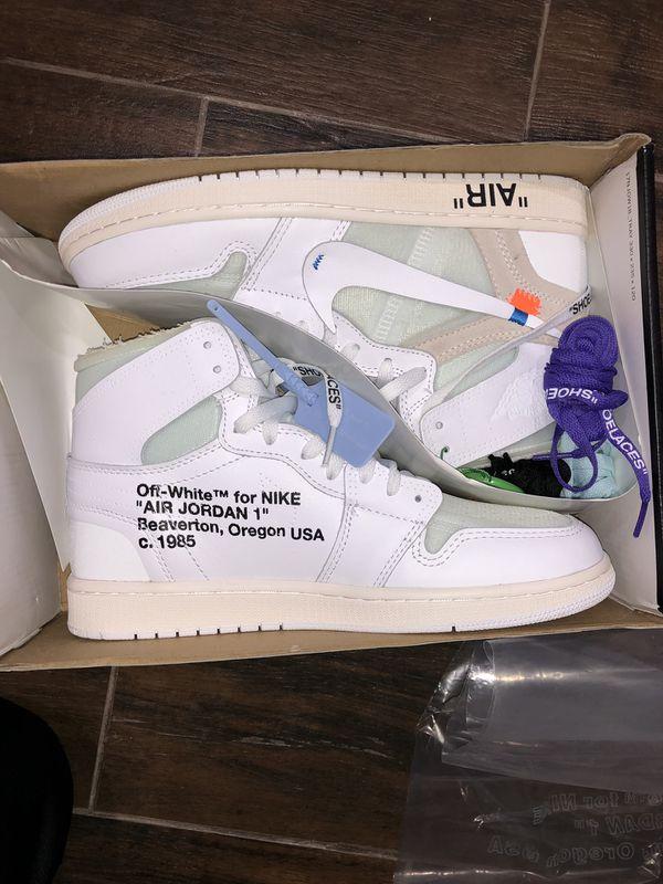 Off white Nike air jordan 1 nrg Europe white blue size 10