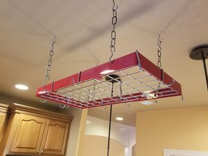 Chef's Red Pot Rack {contact info removed} for Sale in Vancouver, WA