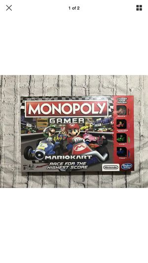 2019 Monopoly Gamer Mario Kart Board Game New in Box Fast Shipping 2-4 Players for Sale in Suffern, NY