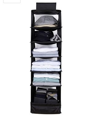 6 Shelves Hanging Closet Organizer Breathable for Sale in Miami, FL