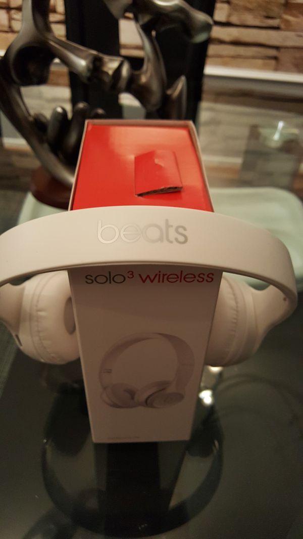 White wireless headphones
