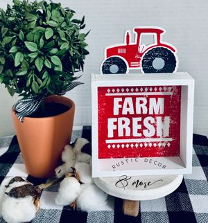 Farmhouse Tractor Box Sign for Sale in Tampa, FL