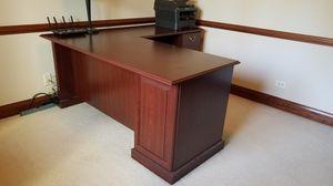 L Shaped cherry wood desk, VGC for Sale in Aurora, IL