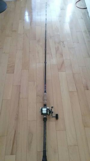 Custom 8ft Graftec 80xl Saltwater Fishing Rod w. Daiwa Sealine SL20SH reel, used for Sale in Los Angeles, CA