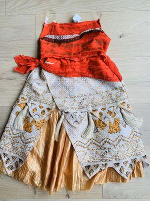 Kids Moana Halloween Costume + Seashell Necklace for Sale in Redmond, WA