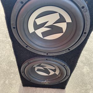 """a pair M10"""" DVC Shallow Subwoofer 700w Max 4 Ohm Power Reference for Sale in Dallas, TX"""