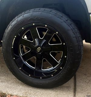 Chevy silverado sierra ford f150 wheels and tires for Sale in Beach Park, IL