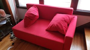 Red Ikea couch-2 piece sectional for Sale in GRANDVIEW, OH