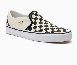 Vans check slip on sneakers, ladies size 8 for Sale in Duluth, GA