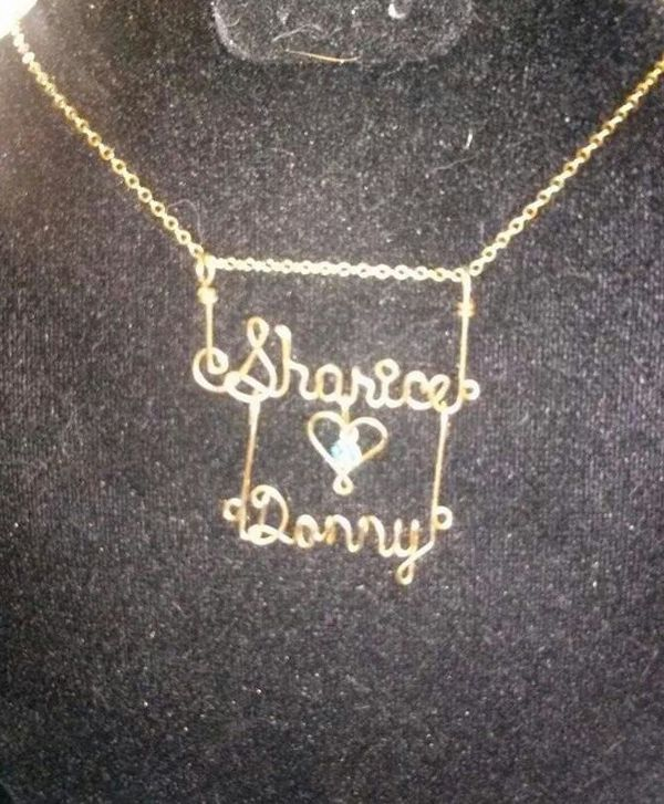 Custom Wire Double Nameplate Necklace