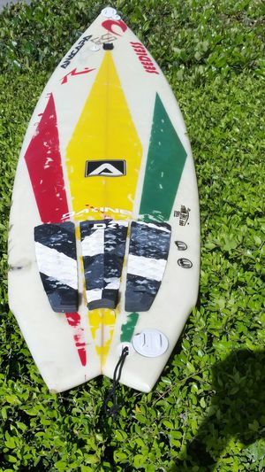 5'11 anacapa rare surfboard tri fish very good condition. Custom paint comes with leash and boardbag. Did have a professional a fin repair done. for Sale in Houston, TX