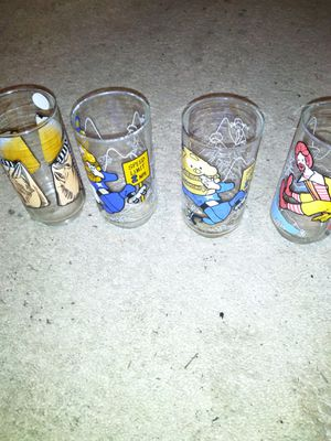 Four 1977 Collectible McDonald's Glasses for Sale in Kinston, NC