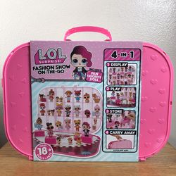 LOL Surprise Fashion Show On The Go 4 In 1 Playset W/ Doll Hot Pink Brand New for Sale in West Linn,  OR