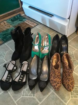 High Heels Shoes, 2 size 61/2 , 2 size 6 , 0ne size 7 , one size 9 Name Brand, Thari, Kenneth Cole, Charlotte Russe all in good condition 80. For All for Sale in Princeton, TX