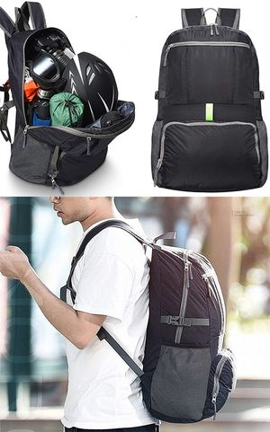 (NEW) $15 Light Weight (11oz) Hiking Backpack Waterproof Travel Rucksack, Double Zip Foldable (30L) for Sale in Whittier, CA