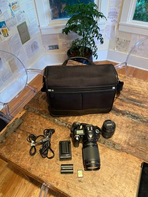 Nikon D50 Digital Camera w/ Nikkor 70-300mm and 28-80mm Lens, 2-Battery, Charger, 64gb card and Nikon Bag for Sale in Seattle, WA