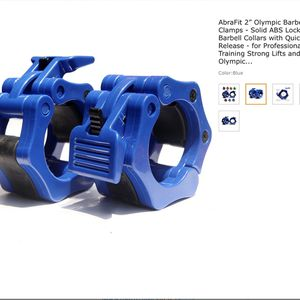 1 Inch Barbell Collar Pair, barbel clamps, abs locking(Blue) for Sale in Winston-Salem, NC