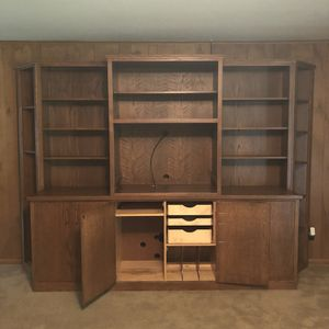 Large Hard Wood Shelving Unit for Sale in Fayetteville, AR