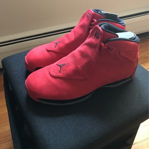 Jordan 18 Red Toro With Box Size 12 for Sale in Chicago, IL