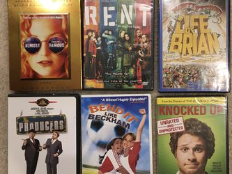 DVDs Almost Famous , Rent, Life Of Brian , The Producers, Bend It Like Beckham, Knocked Up for Sale in Issaquah,  WA