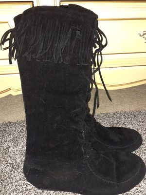Black fringe boots for Sale in Houston, TX