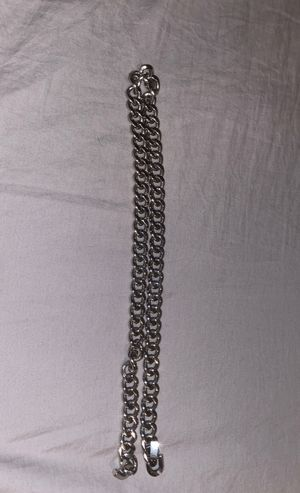 Stainless steel link chain. Barely used. for Sale in Sarasota, FL
