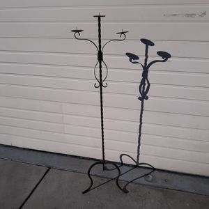 """Wrought Iron 3 Candle Holder 58"""" Tall Candelabra for Sale in Chatsworth, CA"""