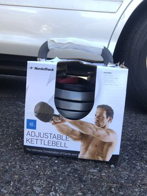 New Nordic Track Adjustable 40lb Kettle Bell for Sale in Phoenix, AZ
