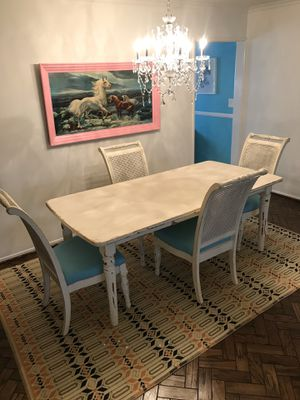 Shabby Chic French Country Farmhouse Style Dining Set Table and Chairs for Sale in Los Angeles, CA