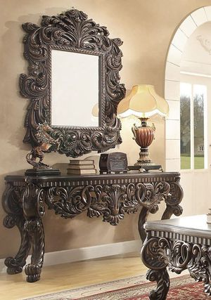 Console table with mirror on sale only at elegant Furniture 🎈🛋🎈 for Sale in Fresno, CA