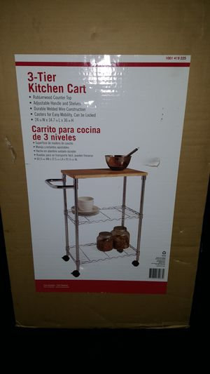 3 Tier Kitchen Cart for Sale in Woodway, WA